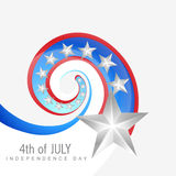 Creative 4th of july. Vector design illustration Royalty Free Stock Photography