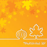 Creative Thanksgiving Day Background Stock Images