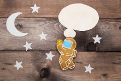 Creative on a theme thought astronaut Royalty Free Stock Image