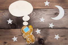Creative on a theme thought astronaut Royalty Free Stock Images