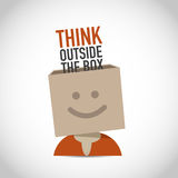 Creative think outside the box Royalty Free Stock Photo