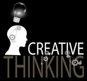 Creative thinking background Royalty Free Stock Images