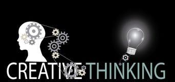 Creative thinking background Stock Images