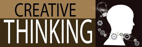 Creative thinking background Royalty Free Stock Images