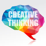 Creative thinking brain stock illustration