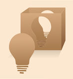 Creative Thinking. Conceptual illustration of thinking outside the box. Eps10 Royalty Free Stock Photos