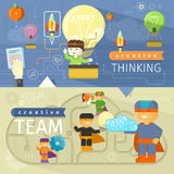 Creative thinking and creative team Royalty Free Stock Photo