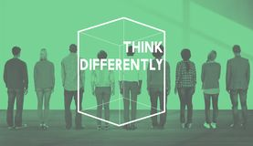 Creative Thinking Different Cube Graphic Concept royalty free stock photo