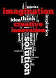 Creative thinking info text Stock Image