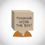 Creative thinking inside the box Stock Photo