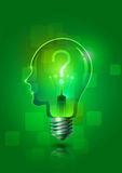 Creative Thinking Light Bulb Stock Images
