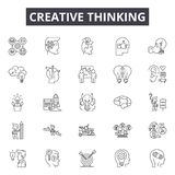 Creative thinking line icons, signs, vector set, outline illustration concept royalty free illustration