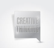 Creative thinking message illustration design Stock Photography