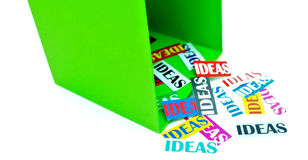 Creative Thinking Outside the Box Stock Images