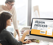 Creative Thinking Process Design Graphic Concept. Creative Thinking Process Design Concept royalty free stock photos