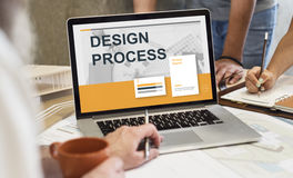 Creative Thinking Process Design Graphic Concept. Creative Thinking Process Design Graphic Royalty Free Stock Images