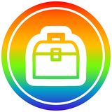 A creative tool box circular in rainbow spectrum. An original creative tool box circular in rainbow spectrum royalty free illustration