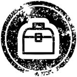 A creative tool box distressed icon. An original creative tool box distressed icon royalty free illustration