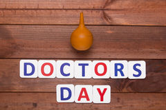 Creative on topic of day doctor Stock Image