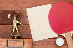 Creative on the topic of table tennis Stock Photography