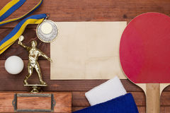 Creative on the topic of table tennis Stock Photos