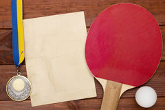 Creative on the topic of table tennis Royalty Free Stock Photography