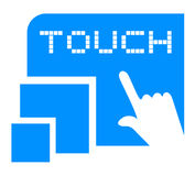 Creative touch symbol Royalty Free Stock Photography