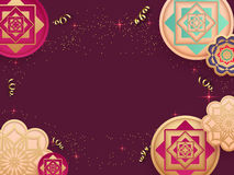 Creative traditional floral design background. Creative traditional floral design decorated background with space for your text royalty free illustration