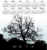 2014 Creative Tree Calendar Royalty Free Stock Photo