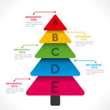 Creative tree  shape info-graphics design Royalty Free Stock Photos