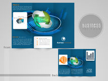 Creative tri-fold flyer, template or brochure for your business. Stock Images