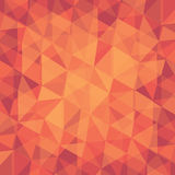 Creative triangle pattern in red background Royalty Free Stock Photos
