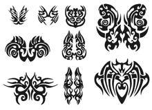 Creative Tribal Tattoo Pack. illustration. Creative black Tribal Tattoo Pack Royalty Free Stock Photos