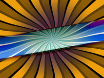 Creative Twisted Background. A creative background of twisted blue and yellow sections. Please visit my portfolio for more Royalty Free Stock Photo