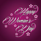 Creative typographic design for Happy Womens Day. Illustration of Creative typographic design for Happy Womens Day Royalty Free Stock Photos