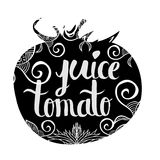 Creative typographic poster with the inscription in black vegetable silhouette  Royalty Free Stock Photos