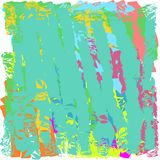 Creative universal abstract cards in green and blue and yellow and pink and brown tones. Royalty Free Stock Photo