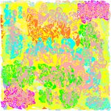 Creative universal abstract cards in green and blue and yellow and pink and brown tones. Stock Photography