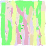 Creative universal abstract cards in green and blue and yellow and pink and brown tones. Royalty Free Stock Photos