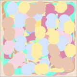 Creative universal abstract cards in green and blue and yellow and pink and brown tones. Royalty Free Stock Photography