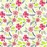 Creative universal artistic floral seamless pattern background. Hand Drawn textures with colorful flowers. Trendy Graphic Design stock illustration