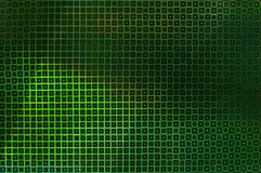 Creative unusual green background of glowing squares royalty free stock photo