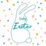 Creative unusual unique artistic hand drawn header. Easter eggs pattern trendy background for advertising, social media, web design, etc. Vector Illustration Royalty Free Illustration