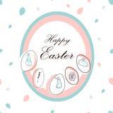 Creative unusual unique artistic hand drawn header. Easter eggs pattern trendy background for advertising, social media, web design, etc. Vector Illustration Vector Illustration