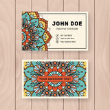 Creative useful business name card design Stock Images