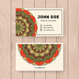 Creative useful business name card design Royalty Free Stock Photo