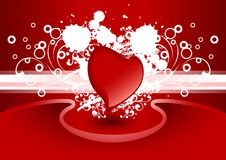 Creative Valentine greeting card with heart in red color, vector Stock Photos