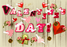Creative valentine's day design with  letters and hearts o Stock Photo
