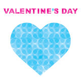 Creative valentine`s day greeting design Royalty Free Stock Photography