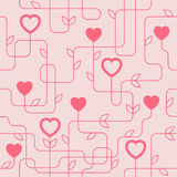 Creative Valentine's Day Seamles Pattern Stock Photography